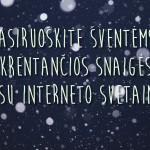 Krentantis sniegas jūsų interneto svetainėje